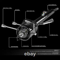 For 55-59 Chevy Gm Hot Rod 28 Tilt Auto Automatic Steering Column Shift Black