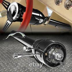 For 55-59 Chevy Gm Hot Rod 28 Tilt Manual Mt Steering Column Floor Shift Black