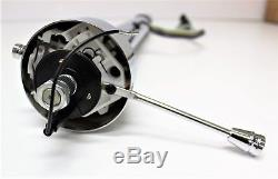 Hot Rod Steering Column 32 Inch Chrome Straight Non-tilt Collapsible +eng Report