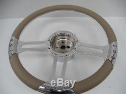 Hot Rod Steering Column Chrome 30 Tilt Floor Shift Includes Steering Wheel+boss