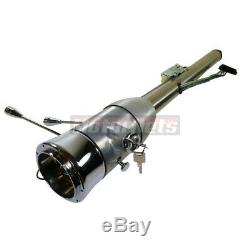 Raw 32 Manual Floor Shift Tilt Steering Column + Ignition Key Chevy Pontiac GM