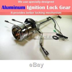 Raw Stainless 28 Automatic Column Shift Tilt Steering Column Chevy GM NO-KEY