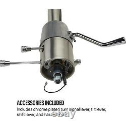 Speedway 1957 Chevy Tilt Steering Column with Shifter, Plain Finish