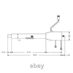 Standard GM 5-Position Tilt Steering Column, 32In, Column Shift, Plain