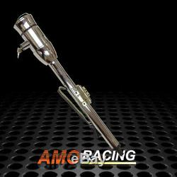 Univesal 32 Manual Tilt Steering Column withKey and Wheel Adapter Chrome Finished